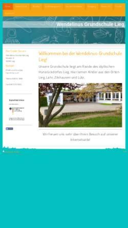 Vorschau der mobilen Webseite www.grundschule-lieg.de, Wendelinus-Grundschule Lieg