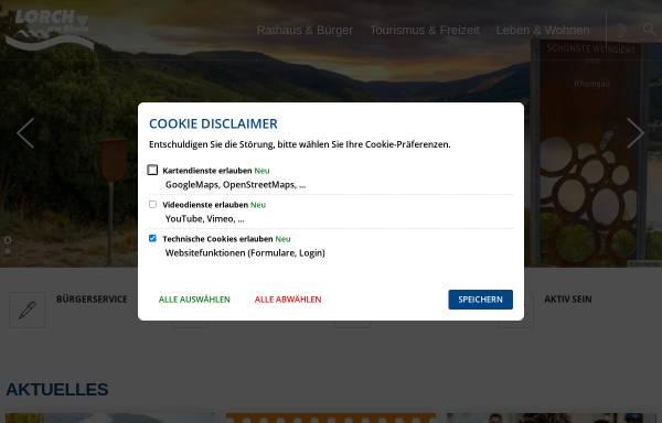 Vorschau von www.lorch-rhein.de, Lorch im Rheingau