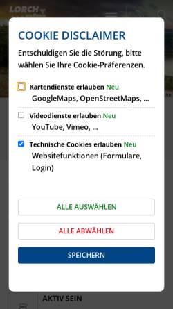 Vorschau der mobilen Webseite www.lorch-rhein.de, Lorch im Rheingau