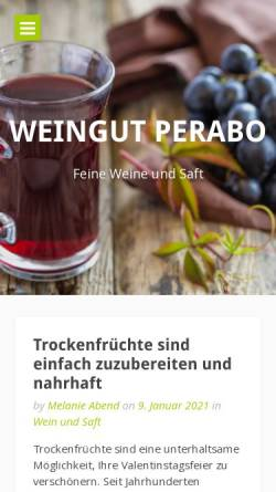 Vorschau der mobilen Webseite www.weingut-perabo.de, Weingut Fritz Perabo
