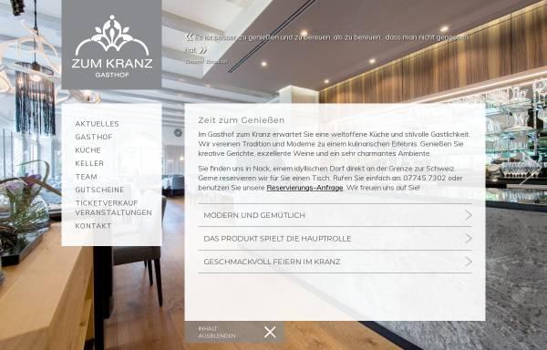 Vorschau von www.gasthof-zum-kranz.de, Spezialitätenrestaurant Gasthof zum Kranz in Lottstetten-Nack