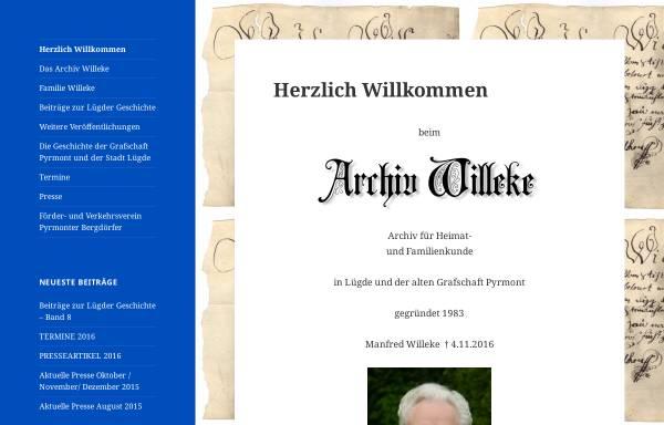 Vorschau von www.archiv-willeke.de, Archiv Willeke