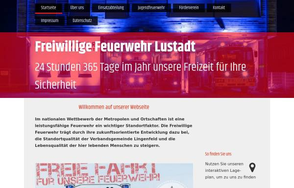 Vorschau von www.feuerwehr-lustadt.de, Freiwillige Feuerwehr Lustadt