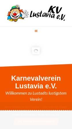 Vorschau der mobilen Webseite www.lustavia.de, Lustavia e.V.