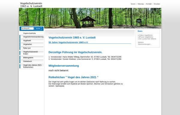 Vorschau von www.vogelschutz-lustadt.de, Vogelschutzverein 1965 e. V. Lustadt