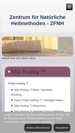 Vorschau der mobilen Webseite www.zfnh.de, Zentrum für Natürliche Heilmethoden