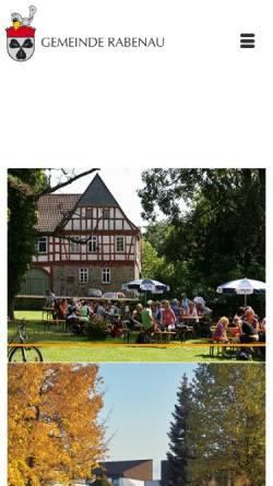 Vorschau der mobilen Webseite www.gemeinde-rabenau.de, Gemeinde Rabenau
