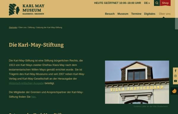 Vorschau von www.karl-may-stiftung.de, Karl-May-Stiftung
