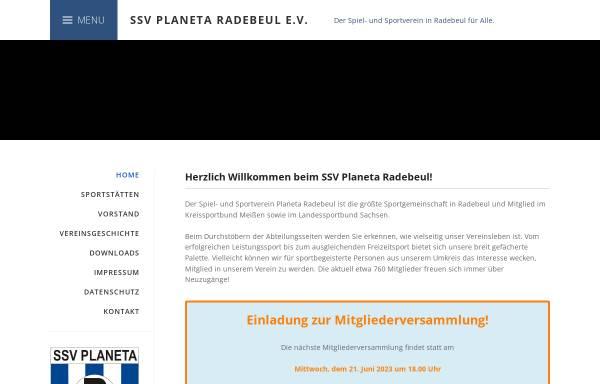 Vorschau von www.ssv-planeta-radebeul.de, ssv planeta radebeul - leichtathletik