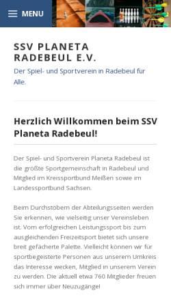 Vorschau der mobilen Webseite www.ssv-planeta-radebeul.de, ssv planeta radebeul - leichtathletik
