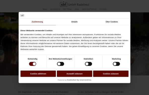 Vorschau von www.sport-in-radebeul.de, Stadtbäder und Freizeitanlagen Radebeul
