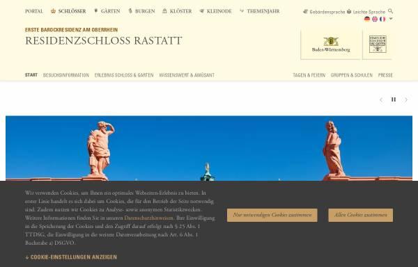 Vorschau von www.schloss-rastatt.de, Schloss Rastatt
