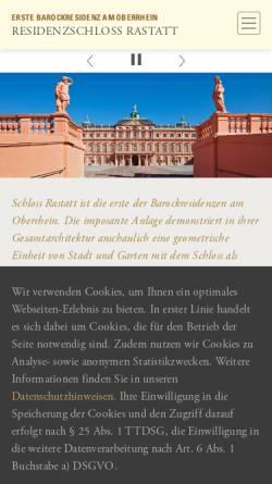 Vorschau der mobilen Webseite www.schloss-rastatt.de, Schloss Rastatt