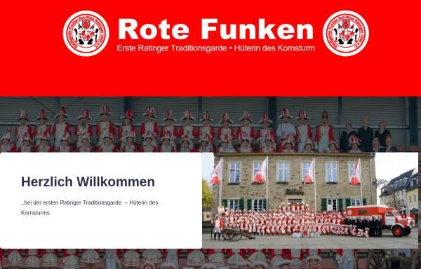 Vorschau von www.rotefunkenratingen.de, KG Stadtgarde Funken Rot-Wiss Ratingen e.V.
