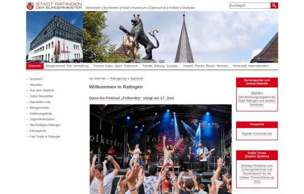 Vorschau von www.stadt-ratingen.de, Stadt Ratingen