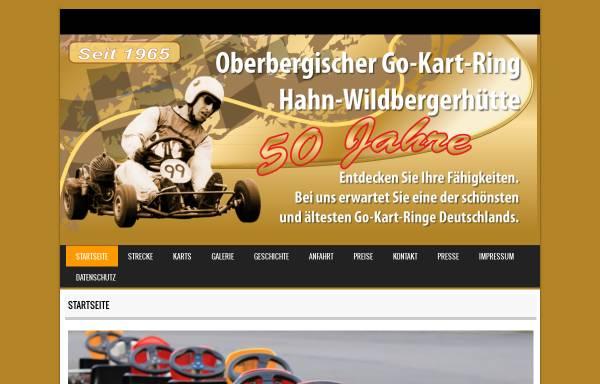 Vorschau von www.kartring-oberberg.de, Go-Kart-Ring Hahn / Wildbergerhütte