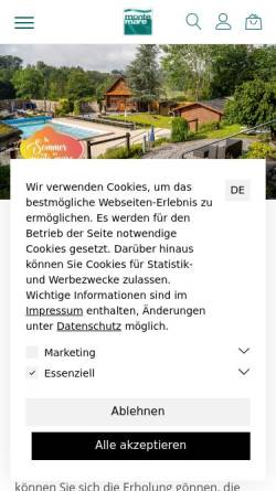 Vorschau der mobilen Webseite www.monte-mare.de, Monte Mare Freizeitbad Eckenhagen