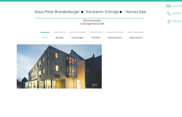 Vorschau von www.brandenburger-schropp.de, Anwaltskanzlei Brandenburger & Schropp