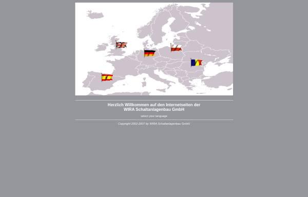 Vorschau von www.wira-schaltanlagen.de, WIRA Schaltanlagenbau GmbH