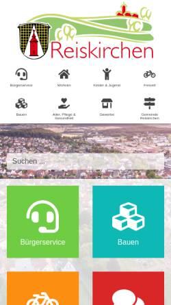 Vorschau der mobilen Webseite www.gemeinde-reiskirchen.de, Gemeinde Reiskirchen