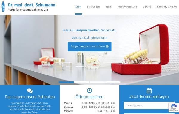 Vorschau von www.drschumann.de, Zahnarztpraxis Dr. Jens Schumann