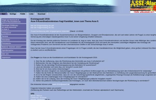 Vorschau von www.asse2.de, Asse II