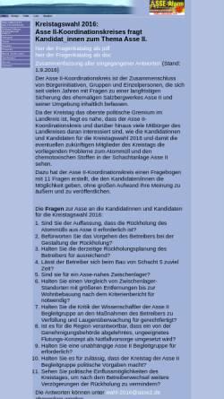 Vorschau der mobilen Webseite www.asse2.de, Asse II
