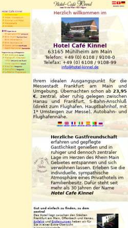 Vorschau der mobilen Webseite www.hotel-kinnel.de, Hotel Cafe Kinnel