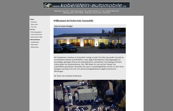Vorschau von www.koberstein-automobile.de, Koberstein Automobile