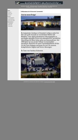 Vorschau der mobilen Webseite www.koberstein-automobile.de, Koberstein Automobile