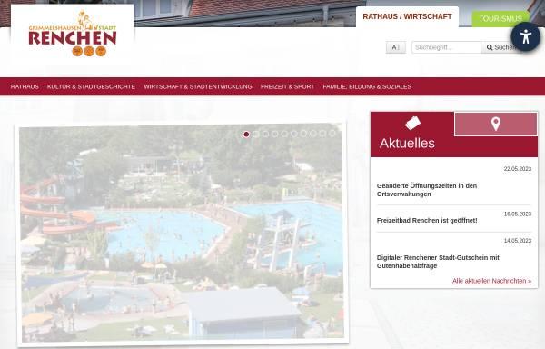 Vorschau von www.renchen.de, Stadt Renchen