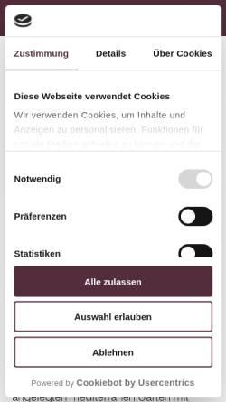 Vorschau der mobilen Webseite www.wernethslandgasthof.de, Werneths Landgasthof Hirschen