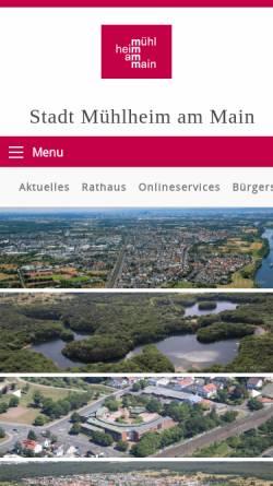 Vorschau der mobilen Webseite www.muehlheim.de, Stadt Mühlheim