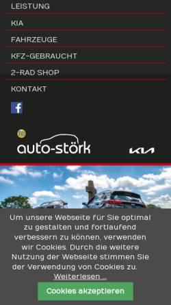Vorschau der mobilen Webseite www.auto-stoerk.de, Autohaus Störk