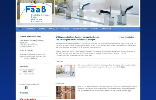 Vorschau von faass-sanitaer.de, Blechnerei Sanitär Installation Faaß