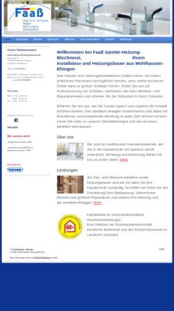 Vorschau der mobilen Webseite faass-sanitaer.de, Blechnerei Sanitär Installation Faaß
