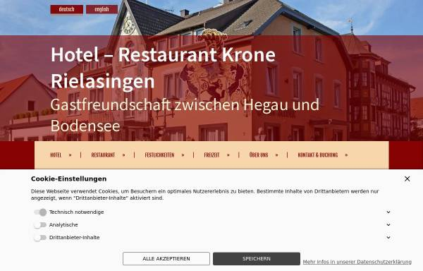 Vorschau von www.kroneonline.de, Hotel Restaurant Krone