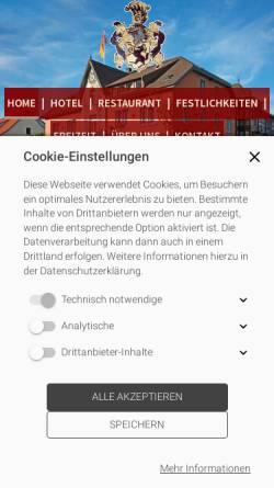 Vorschau der mobilen Webseite www.kroneonline.de, Hotel Restaurant Krone