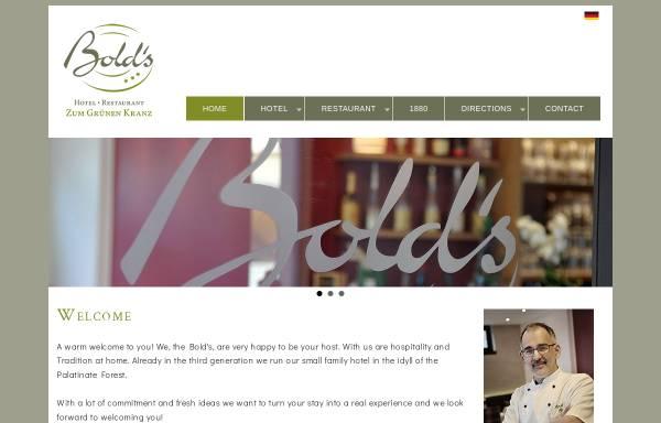 Vorschau von www.boldskranz.de, Bold's Hotel Restaurant Zum Grünen Kranz