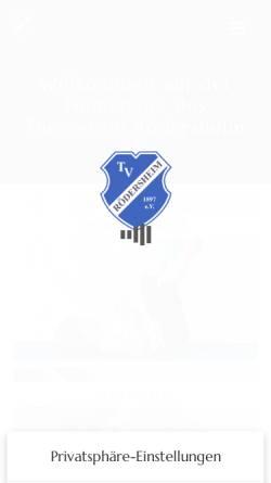Vorschau der mobilen Webseite www.tv-roedersheim.de, TV Rödersheim 1897 e.V.