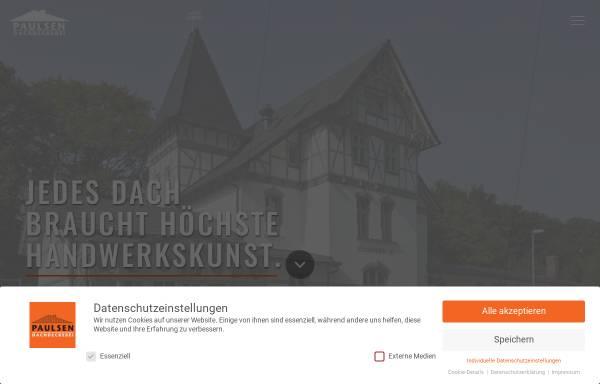 Vorschau von www.paulsen-dach.de, Paulsen Dachdeckerei GmbH