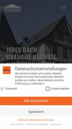 Vorschau der mobilen Webseite www.paulsen-dach.de, Paulsen Dachdeckerei GmbH