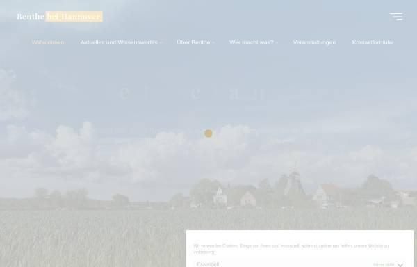 Vorschau von benthe.org, Benthe bei Hannover