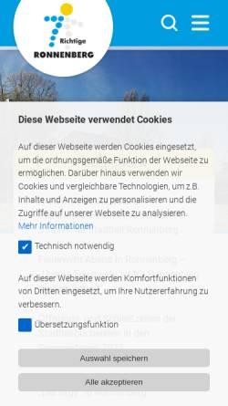 Vorschau der mobilen Webseite www.ronnenberg.de, Stadt Ronnenberg
