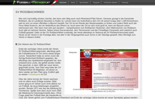 Vorschau von www.sv-rossbach-wied.de, Sport-Verein Roßbach e.V. 1968