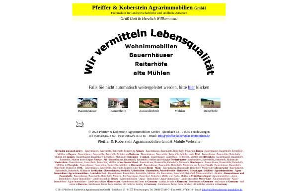 Vorschau von www.hohenloher-immobilien.de, Pfeiffer-Koberstein Immobilien GbR