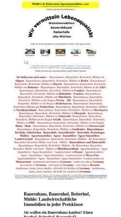 Vorschau der mobilen Webseite www.hohenloher-immobilien.de, Pfeiffer-Koberstein Immobilien GbR