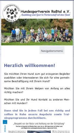Vorschau der mobilen Webseite www.hsv-rosstal.de, HSV-Roßtal