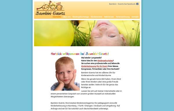 Vorschau von www.bambini-events.de, Bambini Events - Sandra Ohr