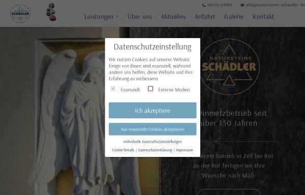 Vorschau von www.natursteine-schaedler.de, Natursteine-Schädler